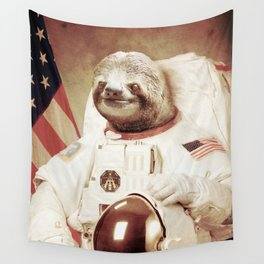 Sloth Astronaut Wall Tapestry