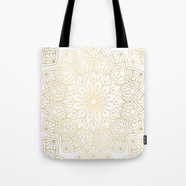 The Golden Mandala Illustration Pattern Tote Bag