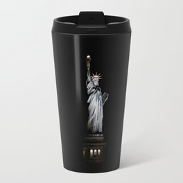 Statue of Liberty at Night Travel Mug