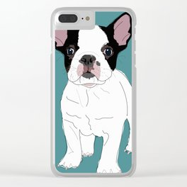French Bulldog Therapy Clear iPhone Case