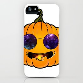 pumpkin glases galaxy iPhone Case