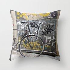Bike, Barcelona Throw Pillow