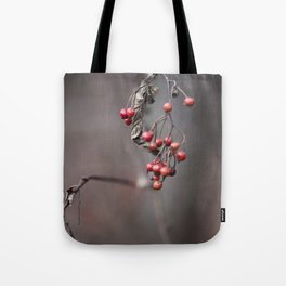 Signs of Fall -Red Berries Tote Bag