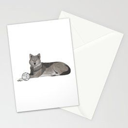 Volleyball Wolf Stationery Cards