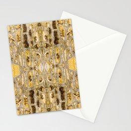 Stone Wall Pattern (yellow) Stationery Cards