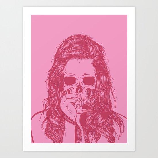 Skull Girl 1 Art Print