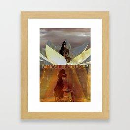 Dance Life Paradise - Black Goddess Meditate Framed Art Print
