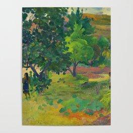 "Paul Gauguin ""Te Fare (La maison)"" Poster"