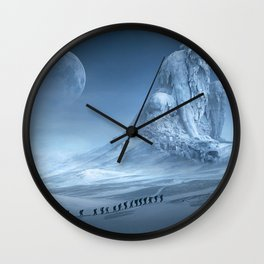 Travel On Fantasy Planet Wall Clock