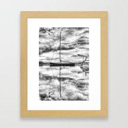 Silver Sailboat Framed Art Print