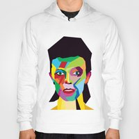 bowie Hoodies featuring bowie by mark ashkenazi