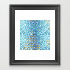 Street Floor Tiles Feeling Turquoise Tiger-Polka Dot...ish! Framed Art Print