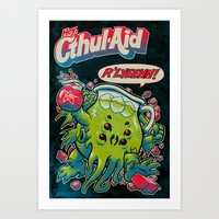 old Art Prints featuring CTHUL-AID by BeastWreck