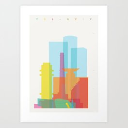 Shapes of Tel Aviv Art Print