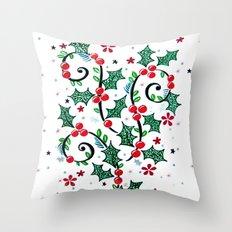 Christmas Curls Throw Pillow
