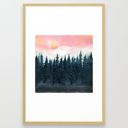 Forest Under the Sunset Framed Art Print