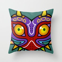 Majora Inspired Mask Throw Pillow