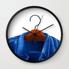 Jacket jeans that hung on the hanger Wall Clock