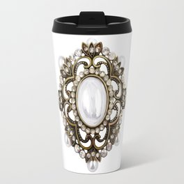 Painted Royal Brosche Travel Mug
