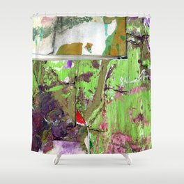 Green, Gold and Purple Boundaries Shower Curtain