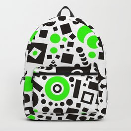 Black versus Green Backpack