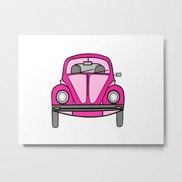 Pink On Wheels Metal Print