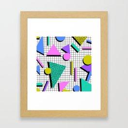 80s Retro Geometric Pattern 2 Framed Art Print