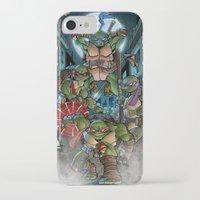 ninja turtles iPhone & iPod Cases featuring Ninja Time! by Mercenary Art Studio