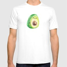 Miniature Avocado guy MEDIUM White Mens Fitted Tee