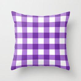 Purple Buffalo Check - more colors Throw Pillow