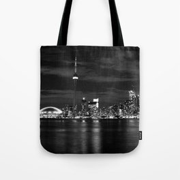 Toronto Skyline, Monocrome Tote Bag