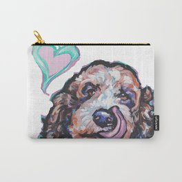 Doodle Portrait Fun Dog bright colorful Pop Art Paintingby LEA Carry-All Pouch