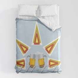 CHEERS w/ friends Duvet Cover