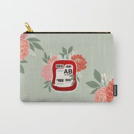 Floral AB Positive Carry-All Pouch