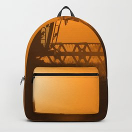 Midsummer time is harvest time of the cereal fields Backpack
