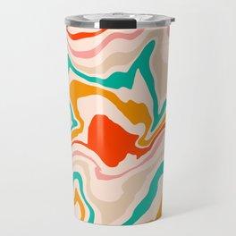 Warm abstract marble Travel Mug
