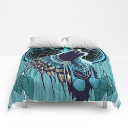 Wolf Indian Shaman Comforters