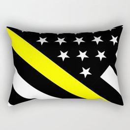 U.S. Flag: Black Flag & The Thin Yellow Line Rectangular Pillow