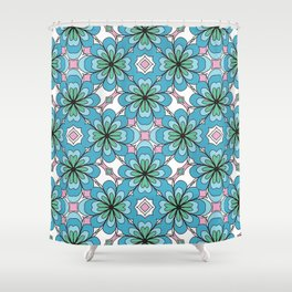 Floral Lattice Shower Curtain