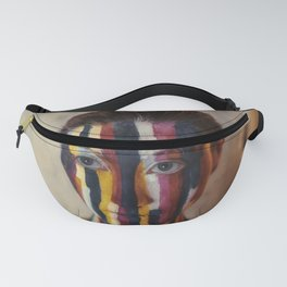 Woman With Colorful Painted Face Fanny Pack