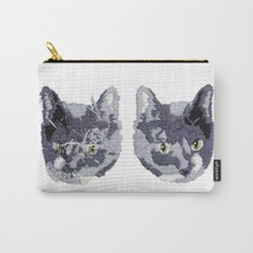 Cat Embroidery Carry-All Pouch