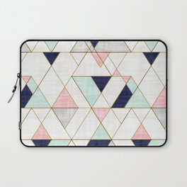 Mod Triangles - Navy Blush Mint Laptop Sleeve