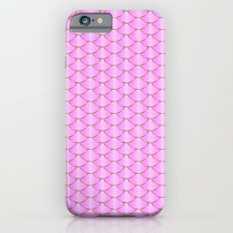 Mermaid tail pattern. Pink and gold fish scale texture iPhone Case