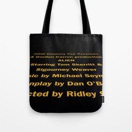 Alien cast & crew Tote Bag