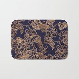 Flower Golden Bath Mat