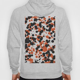 Orange and Black Dots Hoody