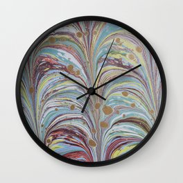 Marbled Multicolor Fountain Wall Clock