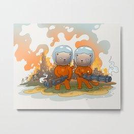 Cosmic Cats Metal Print