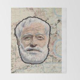 Ernest Hemingway Throw Blanket