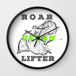 Roar Vegan Lifter Elephant Wall Clock